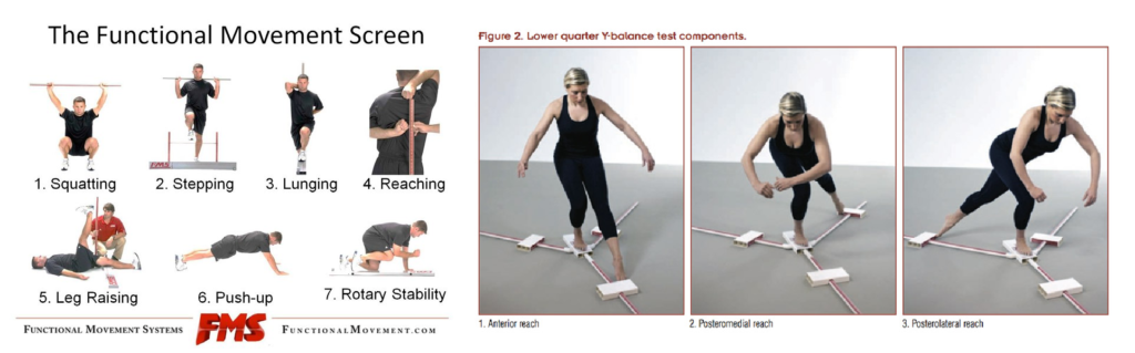 functional movement system (FMS) a Y balance test